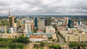 Område för central affär av Nairobi, Kenya Arkivfoton