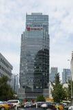 Område för central affär för Asien Peking, Kina, modern arkitektur, många-storied byggnader för stad Royaltyfri Foto