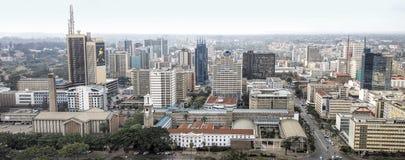 Område för central affär och horisont av Nairobi Arkivfoto