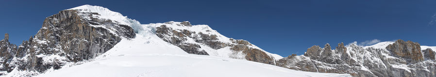 område för himalaya bergnepal panorama Royaltyfria Bilder