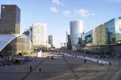 Område för Laförsvaraffär i Paris Arkivbilder