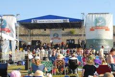 Område för Newport Folk festivaletapp Royaltyfria Bilder