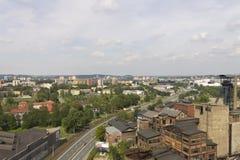 Område för Vitkovice järn- och stålarbeten och Ostrava centrum Royaltyfri Foto