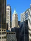 område finansiella manhattan New York Arkivbild