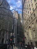område finansiella New York royaltyfri fotografi