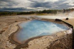 område geotermiska iceland royaltyfri fotografi
