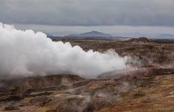 område geotermiska iceland Arkivbild