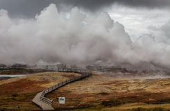 område geotermiska iceland Royaltyfri Bild