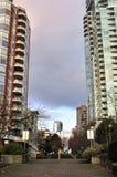 område i stadens centrum bostadsvancouver Royaltyfri Fotografi