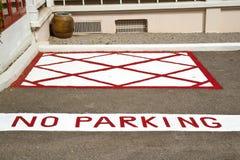 område ingen parkering Royaltyfria Bilder