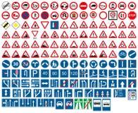 område isolerade gångare förböd upp restricted vägmärken royaltyfri illustrationer