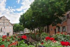 Område lilla Venedig i Colmar Royaltyfri Foto