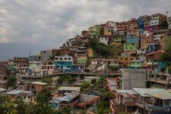Område 13 Medellin Colombia Fotografering för Bildbyråer