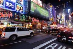 Område nära Times Square på natten Royaltyfri Bild