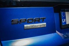 Område Rover Sport Autobiography Blue royaltyfri fotografi