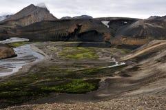 område runt om heklaen iceland royaltyfria foton