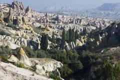 Område runt om Uçhisar, Cappadocia, Turkiet Fotografering för Bildbyråer