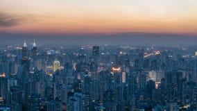 Område Shanghai för central affär Royaltyfri Fotografi