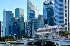 Område Singapore för central affär royaltyfri bild