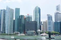 Område Singapore för central affär Royaltyfri Fotografi
