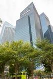 Område Singapore för central affär, Singapore, December 15, 2017 Arkivfoton