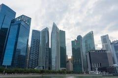 Område Singapore för central affär, Singapore, December 15, 2017 Arkivfoto