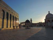 Område som omger den guld- gravvalvet av al-Aqsamoskén, Jerusalem Royaltyfria Foton