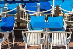 område som utanför äter middag Fotografering för Bildbyråer