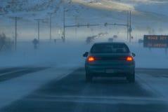 områden är icy kan vägen Fotografering för Bildbyråer