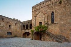 OmrådesArgirokastu morgon Rhodes ö Grekland Arkivfoto