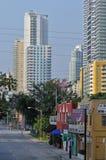 områdesbrickell i stadens centrum miami Royaltyfri Foto