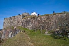 områdesfästningen fredriksten halden utanför Royaltyfri Foto