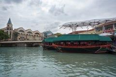 Områdesflodstrand i Singapore Royaltyfri Foto