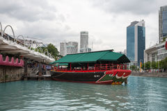Områdesflodstrand i Singapore Royaltyfri Fotografi