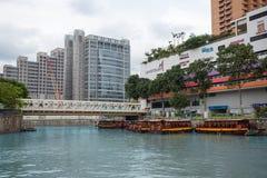 Områdesflodstrand i Singapore Arkivbild