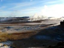 områdeshverir vulkaniska iceland arkivfoton