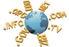 områdesinternet utjämniner den övre url-världen www för namn vektor illustrationer