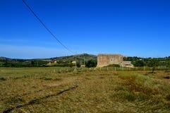 Områdessikt av en typisk Sicilian bygd, Mazzarino, Caltanissetta, Italien, Europa fotografering för bildbyråer