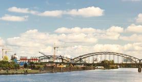 områdesstad industriella frankfurt Royaltyfri Foto