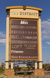 Områdestecknet på ranchen för grön dal i Las Vegas, NV på Augu Arkivbild