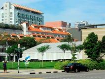 Området för central affär av Singapore arkivfoto