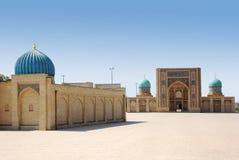 Området på en madrassa i Tasjkent Arkivfoto