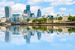 område finansiella london Fotografering för Bildbyråer