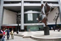 Område för central affär av Singapore Royaltyfri Bild