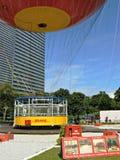 Område för heliumballonglandning Arkivbild