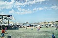 Område Marseille för gammal port Arkivbilder