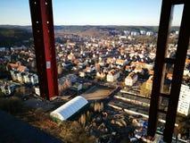 område moscow en panorama- sikt Konstnärlig blick i livliga färger för tappning Arkivfoto