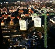 område moscow en panorama- sikt Konstnärlig blick i livliga färger för tappning Royaltyfria Foton