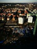 område moscow en panorama- sikt Konstnärlig blick i livliga färger för tappning Arkivbilder