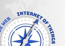 Omringa att peka till textinternet av saker som begreppet för IOT royaltyfri illustrationer